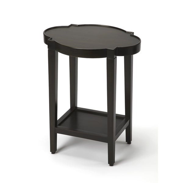 Butler Jobert Black Quatrefoil End Table