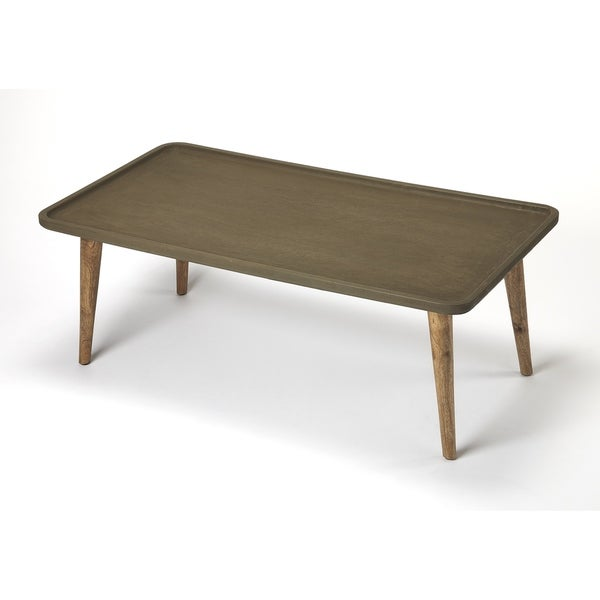 Charmant Butler Bannister Concrete U0026amp; Wood Coffee Table