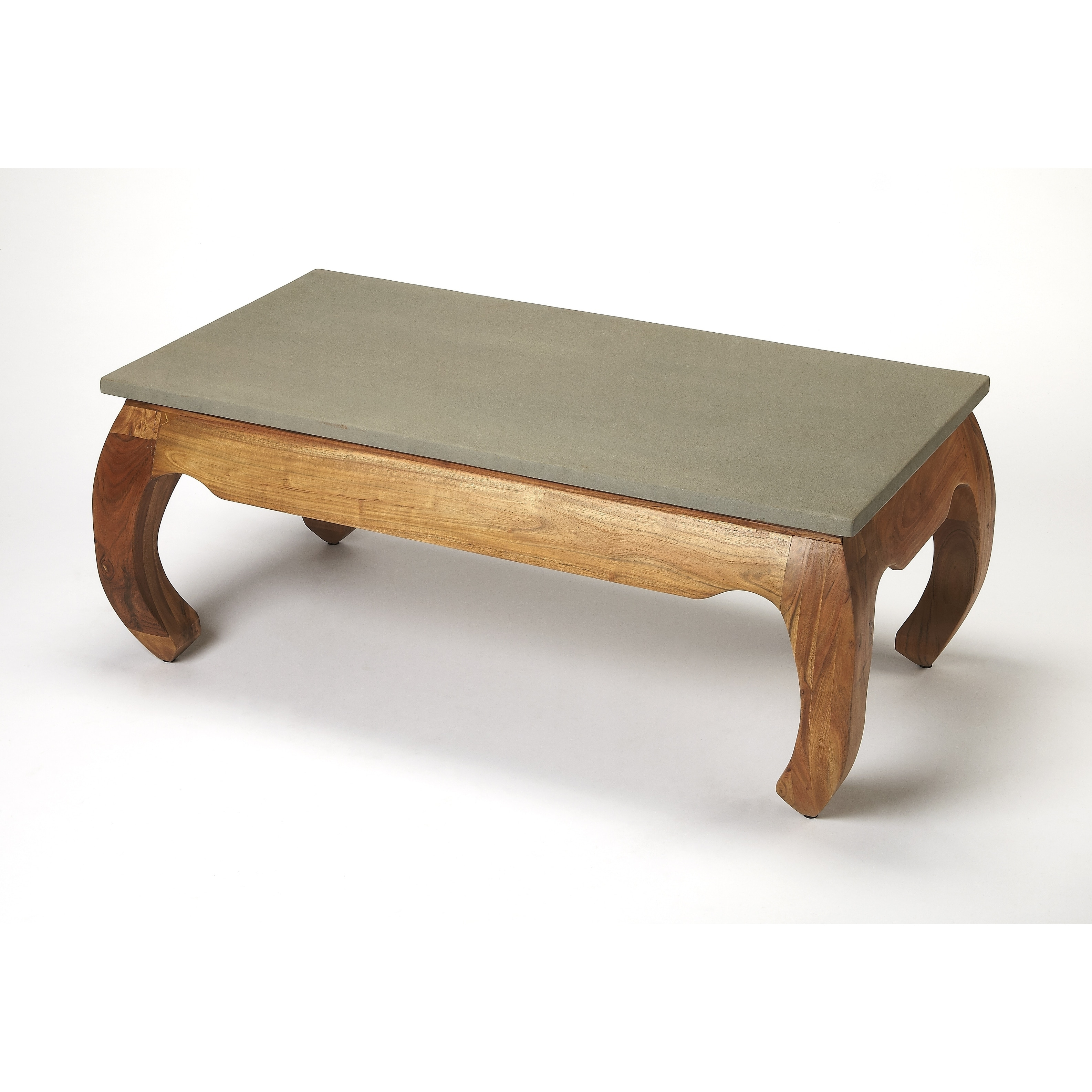 Butler Chandu Concrete & Wood Coffee Table, Multi-Color
