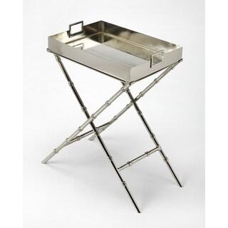 Butler Muriel Metal & Mirror Tray Table