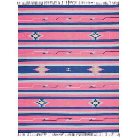 Nourison Baja Striped Southwestern Fringe Area Rug