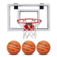 GoSports Basketball Door Hoop with 3 Premium Basketballs & Pump - Standard Size
