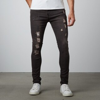 Ripped Black Skinny Fit Denim