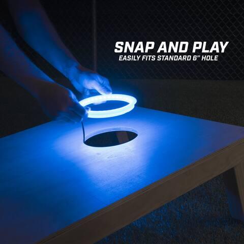 GoSports Cornhole Light Up LED Ring Kit - Blue