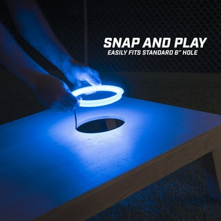 GoSports Cornhole Light Up LED Ring Kit - Blue