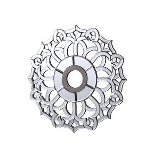24 in. Mirrored Ceiling Medallion in Silver leaf