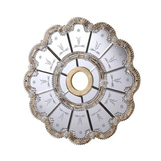 24 in. Mirrored Ceiling Medallion in Gold leaf