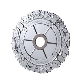 26.25 in. Mirrored Ceiling Medallion in Silver leaf