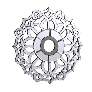 32 in. Mirrored Ceiling Medallion in Silver leaf