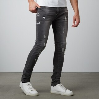 Medium Wash Ripped Skinny Fit Denim (More options available)