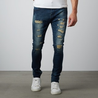 Skinny Ripped Dark Blue Denim