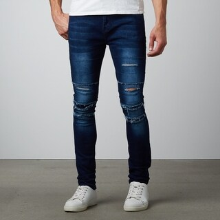 Ripped Distressed Skinny Stretch Denim