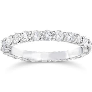 bliss 14k white gold 1 12 ct tdw diamond womens eternity anniversary stackable wedding - 2 Carat Wedding Ring