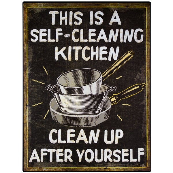 Shop Vintage Quot Self Cleaning Kitchen Quot Sign Wall D 233 Cor