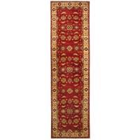 Handmade Herat Oriental Afghan Hand-knotted Tribal Kazak Wool Runner - 2'8 x 9'7