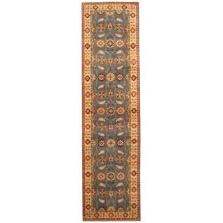 Handmade Herat Oriental Afghan Hand-knotted Tribal Kazak Wool Runner (2'8 x 9'10)