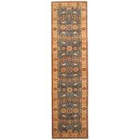 Handmade Herat Oriental Afghan Hand-knotted Tribal Kazak Wool Runner - 2'8 x 9'10