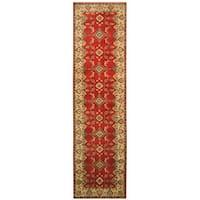 Handmade Herat Oriental Afghan Hand-knotted Tribal Kazak Wool Runner (Afghanistan) - 2'7 x 10'