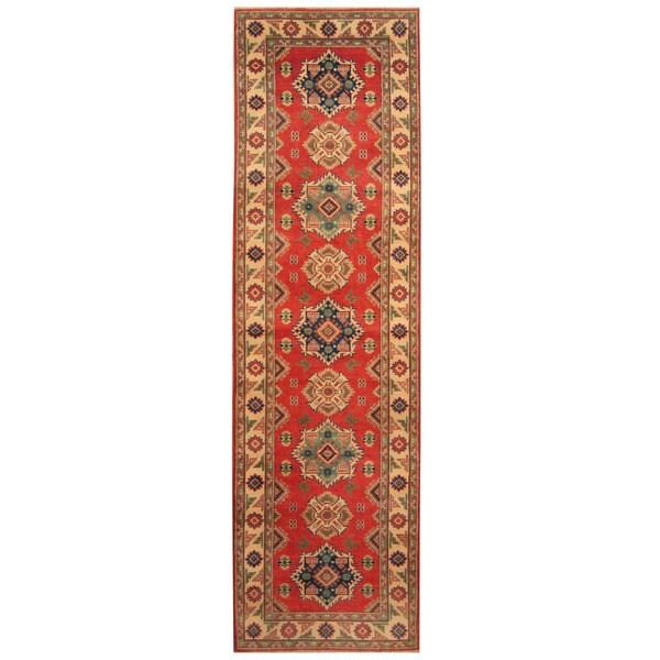 Handmade Kazak Wool Runner (Afghanistan) - 2'10 x 9'10