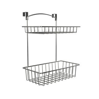 Over The Cabinet Kitchen Storage Organizer- 2 Tier Basket Shelf for Kitchen and Bathroom Organization by Classic Cuisine