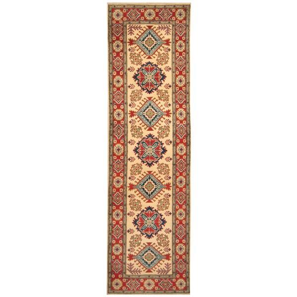 Handmade Kazak Wool Runner (Afghanistan) - 2'8 x 9'10