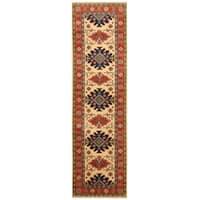 Handmade Herat Oriental Afghan Hand-knotted Tribal Kazak Wool Runner - 2'8 x 9'6