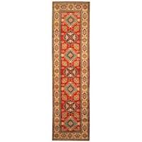 Handmade Herat Oriental Afghan Hand-knotted Tribal Kazak Wool Runner (Afghanistan) - 2'8 x 10'2