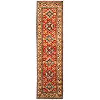 Handmade Herat Oriental Afghan Hand-knotted Tribal Kazak Wool Runner - 2'8 x 10'2