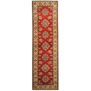 Handmade Herat Oriental Afghan Hand-knotted Tribal Kazak Wool Runner (2'10 x 9'11)