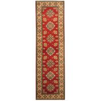 Handmade Herat Oriental Afghan Hand-knotted Tribal Kazak Wool Runner (2'10 x 9'11) - 2'10 x 9'11
