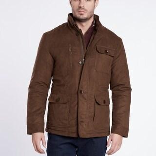 Medium Weight Brown Suede Quilted Jacket