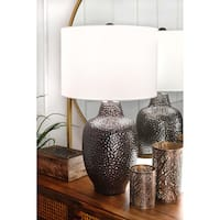 Watch Hill 29'' Bella Ceramic Linen Shade Bronze Table Lamp
