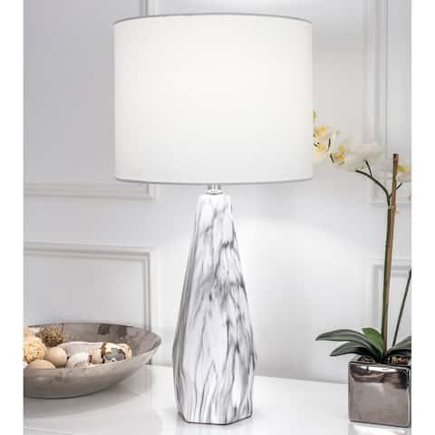 Watch Hill 25'' Winter Ceramic Linen Shade Table Lamp