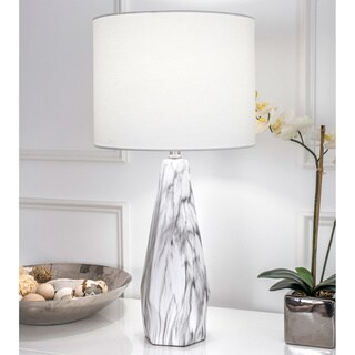Link to Watch Hill 25'' Winter Ceramic Linen Shade Table Lamp Similar Items in Table Lamps
