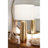 Watch Hill 26'' Kylie Ceramic Linen Shade Golden Table Lamp