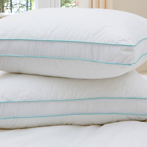 Liza Jane Scallop Cloud Quilted Gusset Pillow (Set of 2)