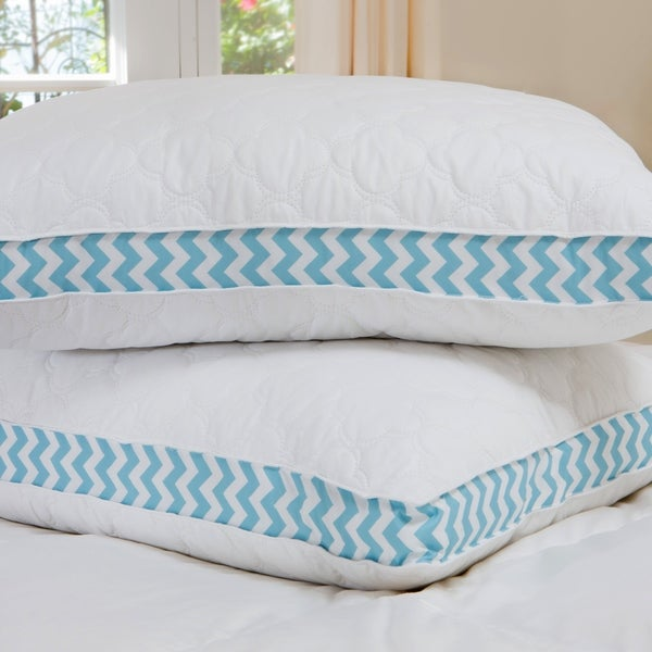 Liza Jane Cloud Quilted Printed Gusset Pillow