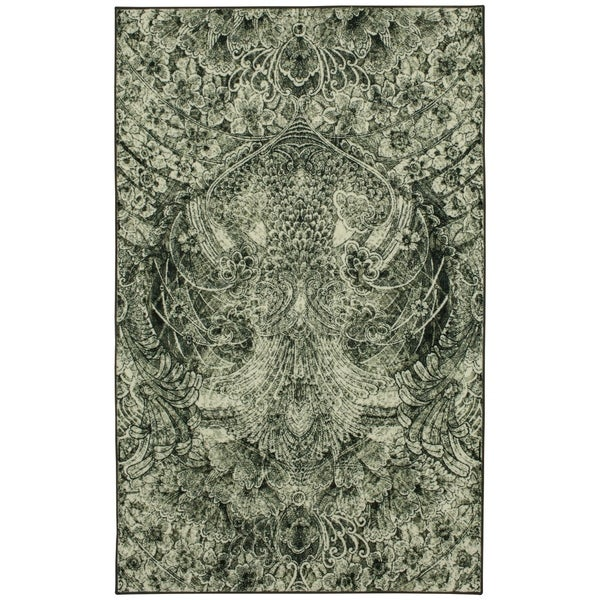 Silver Orchid Hinding Abstract Area Rug