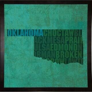 "Oklahoma State Words Framed Print 11.75""x11.75"" by David Bowman"