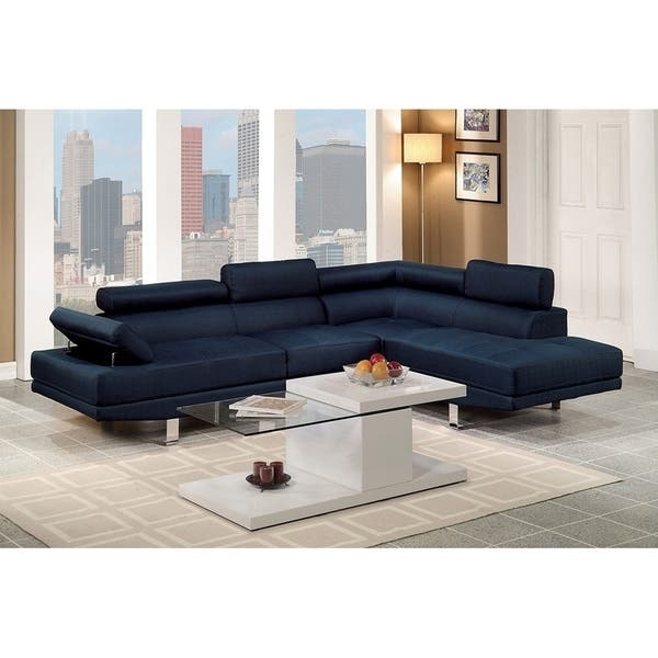 Shop Bobkona 2-Pcs Sectional Sofa w/ Flip Up Headsets: Right ...