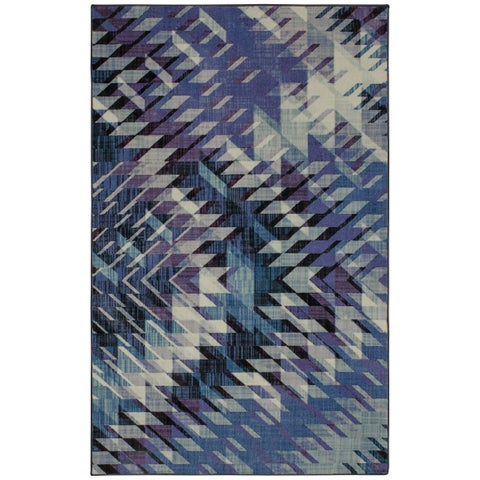 Silver Orchid Hinding Geometric Area Rug