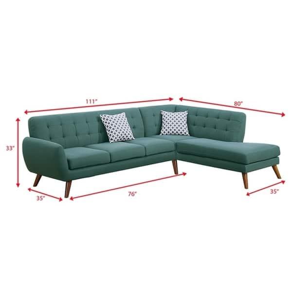 Shop Bobkona Linen-like Fabric 2-Pcs Sectional sofa. Right ...
