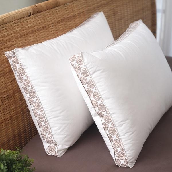 Liza Jane Medallion Gusset Pillow - White