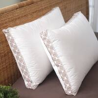 Liza Jane Medallion Gusset Pillow - White