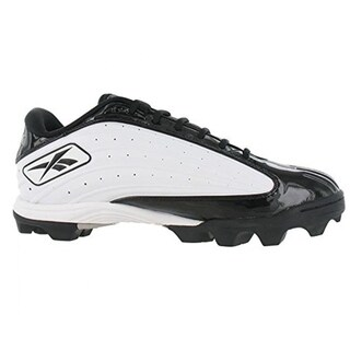 Reebok Men's Outside Speed Low M Black White Molded Football Cleats