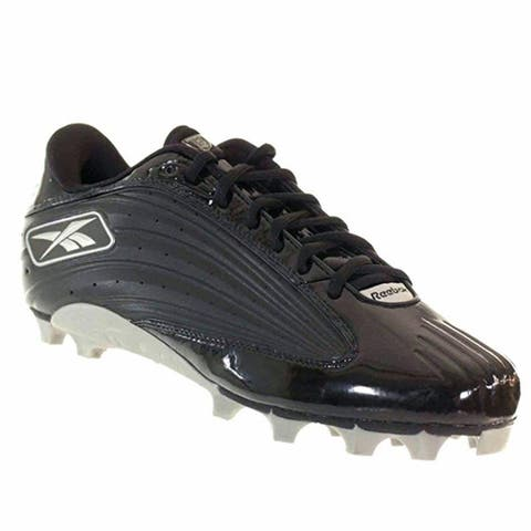 the latest 6aa4c 9e745 Reebok Men s NFL Outside Speed Low M Black Molded Football Cleats