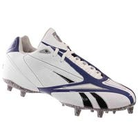 Reebok Pro Burner Speed III M3 Mens Football Molded Cleat White Royal