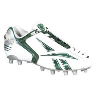 Reebok Mens Pro Pump Burner Speed M2 White Green Molded Football Cleat