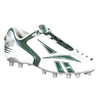 Reebok Mens Pro Pump Burner Speed M2 White Green Molded Football Cleat 643abd7a1