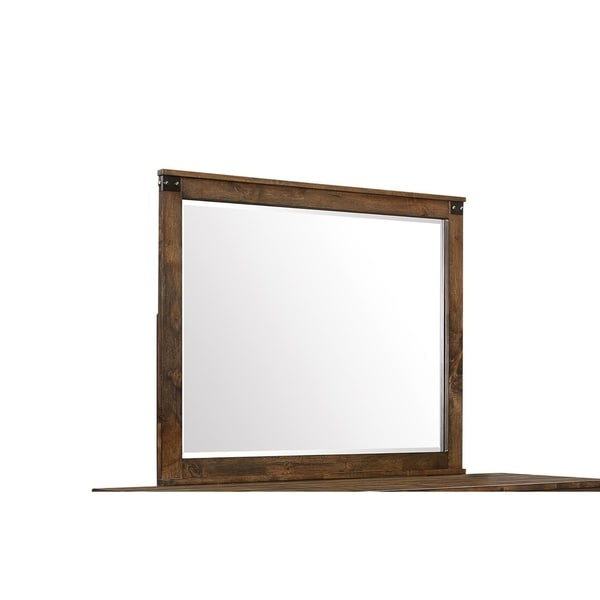 Global Furniture Victoria Mirror - Brown Oak